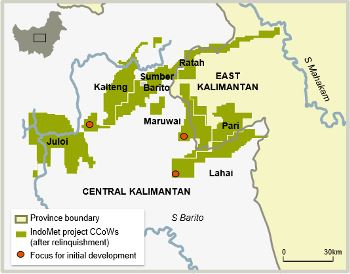 IndoMet project, coal mining in East and Central Kalimantan ...