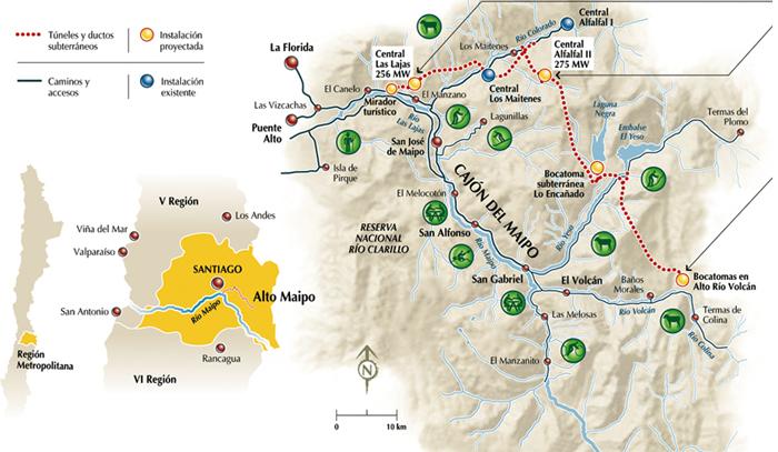 ALTO MAIPO Hydroelectric Project PHAM Chile EJAtlas