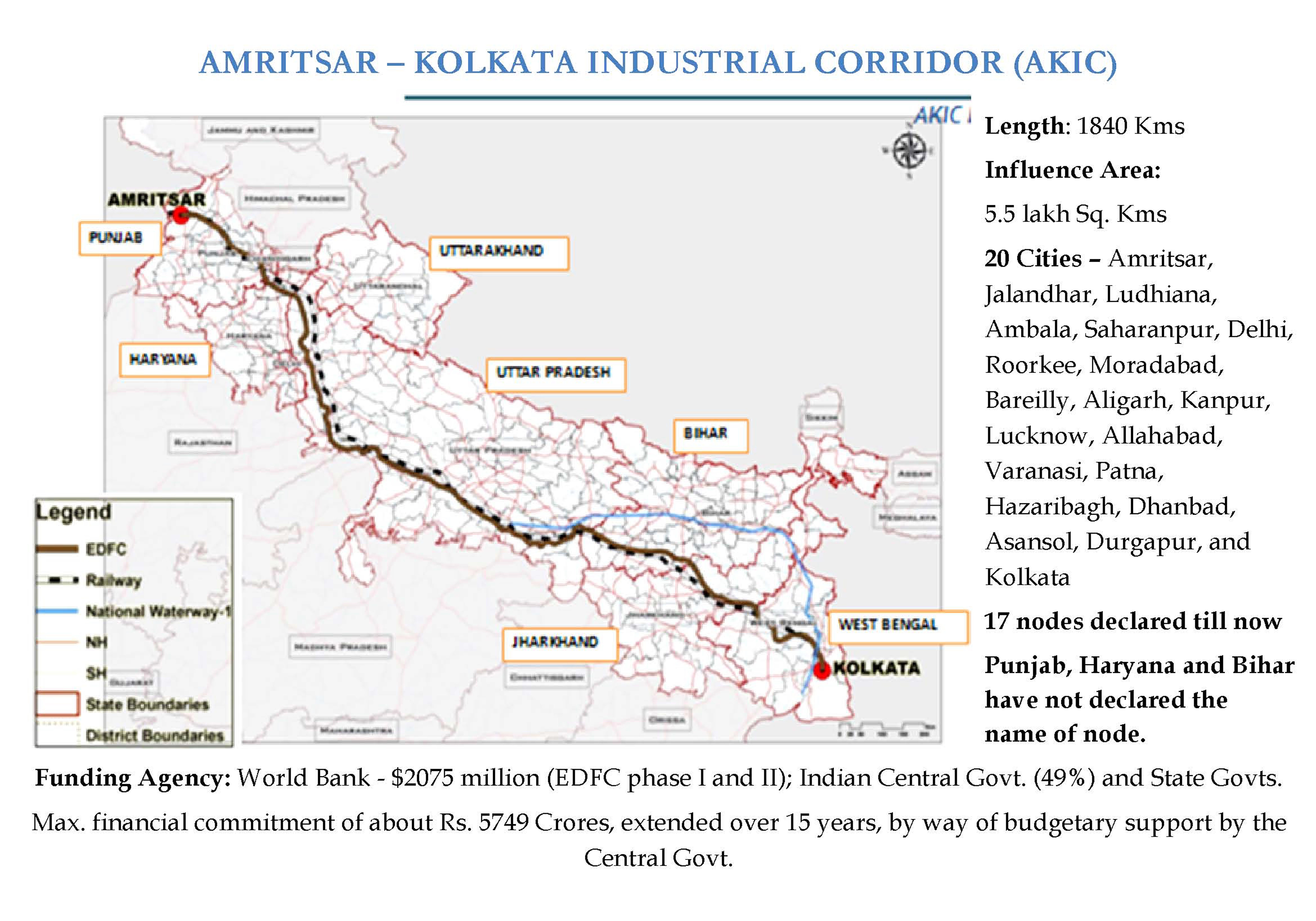 Amritsar DelhiKolkata Industrial Corridor India EJAtlas