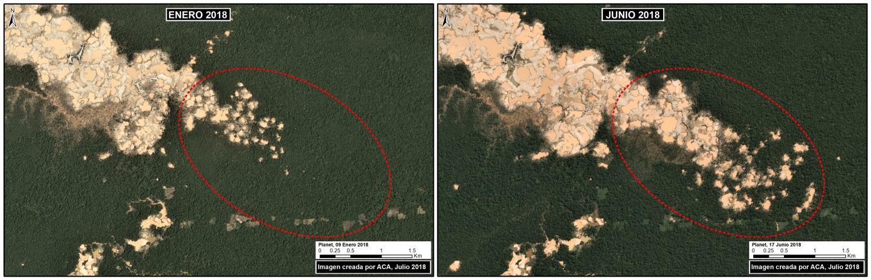 Illegal gold mining in La Pampa and Tambopata National Reserve, Peru