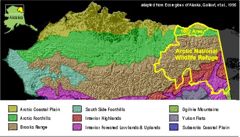 Anwr Alaska Map.Oil Drilling In The Arctic National Wildlife Refuge Usa Ejatlas