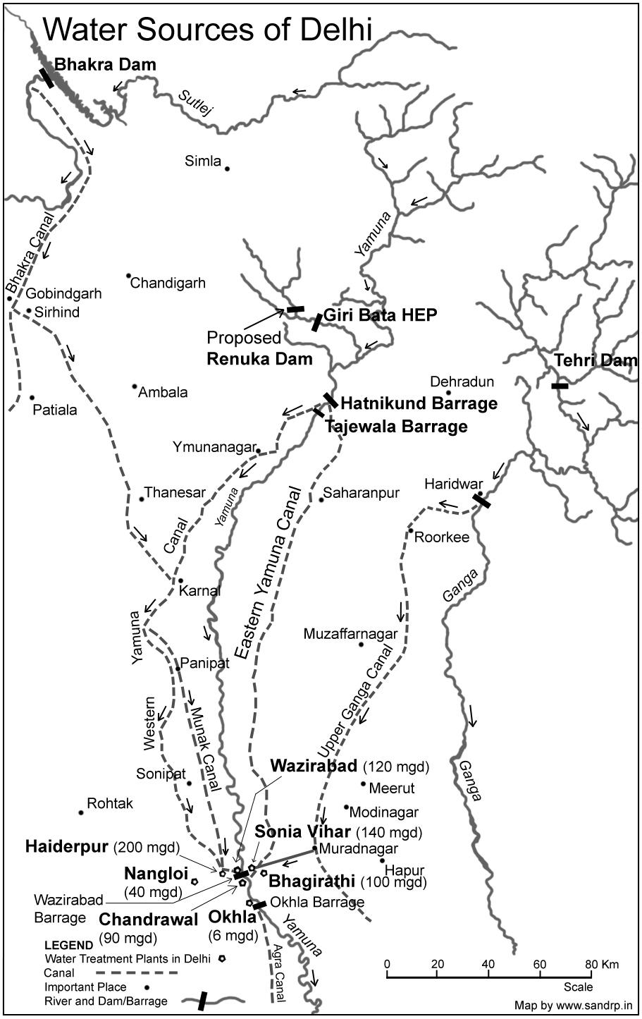 Renuka Dam Project Hp India Ejatlas